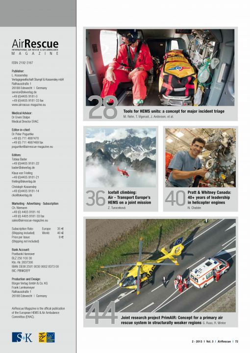 AirRescue Magazine - MEDICAL CARE 1