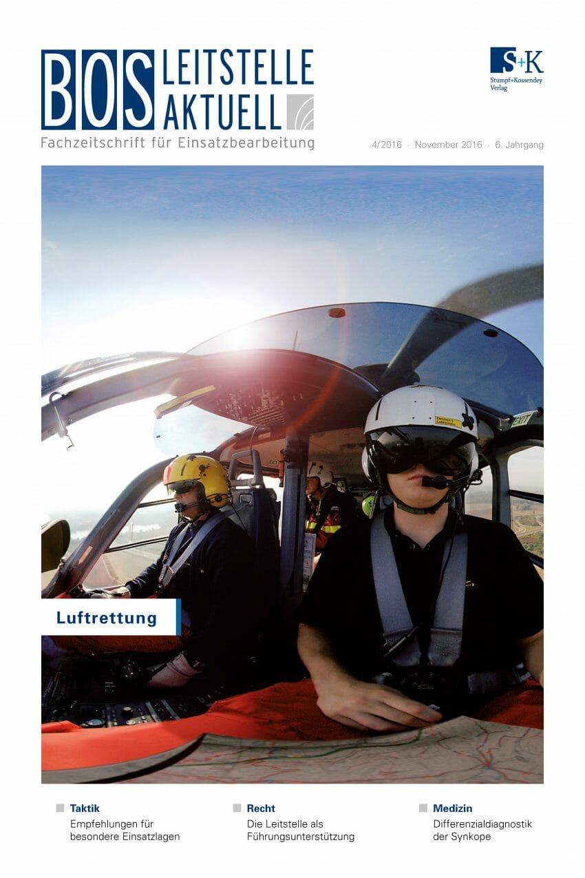 BOS LEITSTELLE AKTUELL 4/2016 - Leitstellentechnik