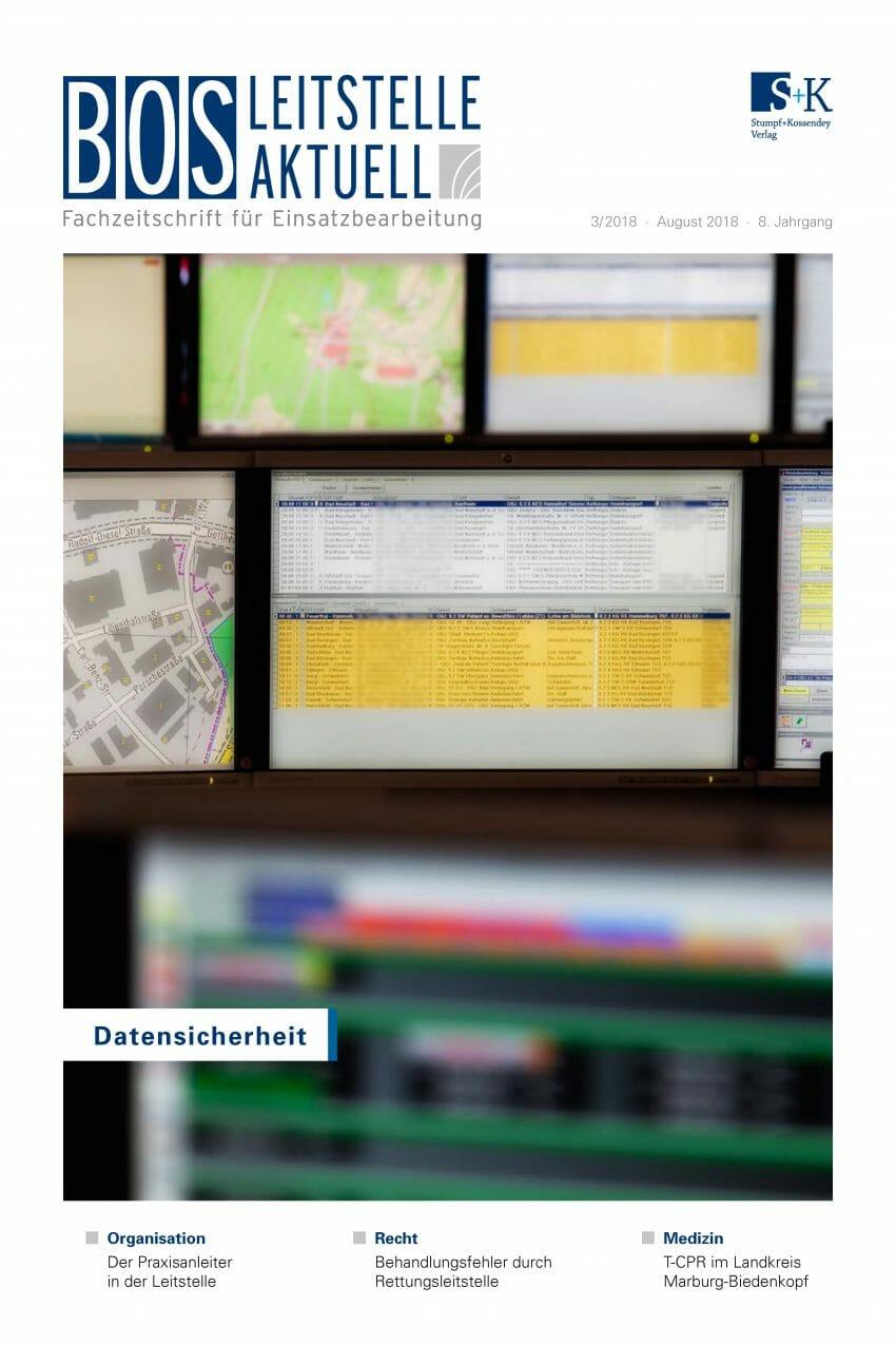 BOS LEITSTELLE AKTUELL 3/2018 - Datensicherheit