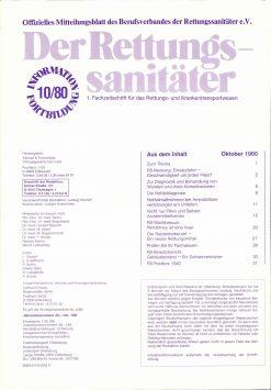 Der Rettungssanitäter 10/1980