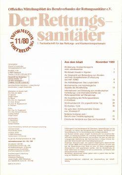 Der Rettungssanitäter 11/1980