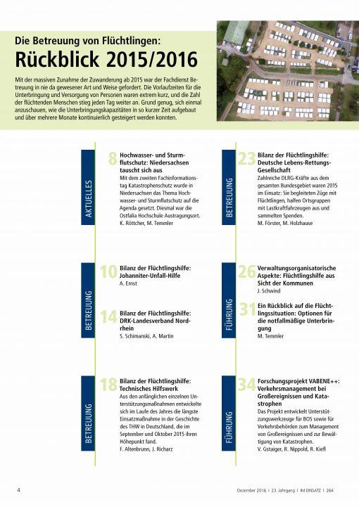 IM EINSATZ 06/2016 - Unterbringung, Betreuung und Versorgung