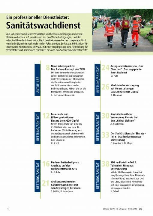 IM EINSATZ 05/2017 - Die Ansprüche an Einsatzkräfte haben sich verändert