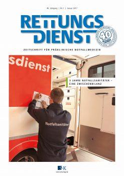 Rettungsdienst 1/2017 - 3 Jahre Notfallsanitäter