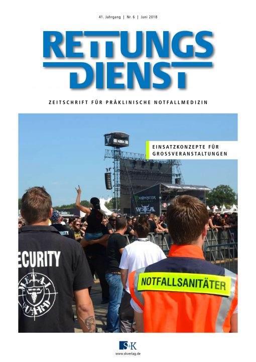 Rettungsdienst 6/2018 - Einsatzkonzepte für Großveranstaltungen
