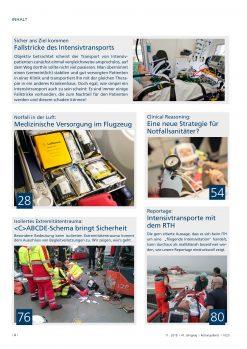 Rettungsdienst 11/2018 - Intensivtransporte und Verlegungsfahrten