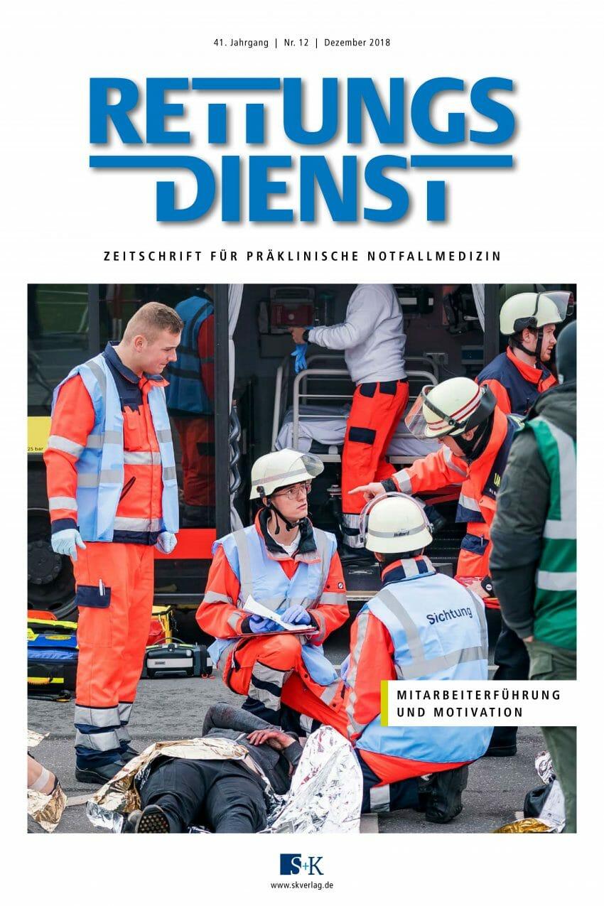 Rettungsdienst 12/2018 - Mitarbeiterführung und Motivation