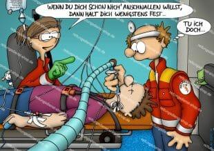 OLAF-Cartoon - anschnallen